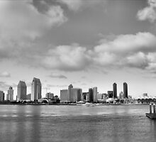 San Diego Skyline in HDR by Rosalee Lustig