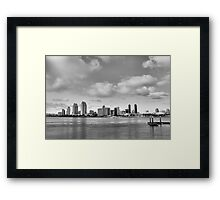 San Diego Skyline in HDR Framed Print