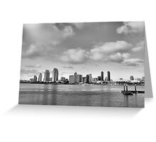 San Diego Skyline in HDR Greeting Card