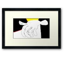Body parts: Hand Study -(080214)- Digital artwork/MS Paint Framed Print