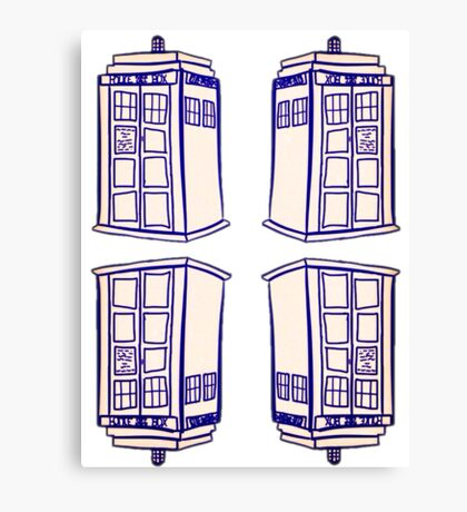 Mirrored Tardis | Doctor Who Canvas Print
