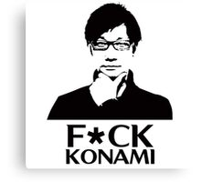 Hideo Kojima F*CK KONAMI Canvas Print