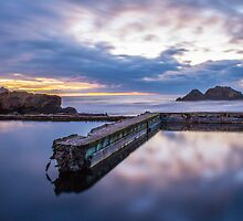 Sunset at Sutro Baths by Maria Tan