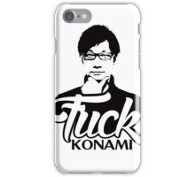 Hideo Kojima F*CK KONAMI iPhone Case/Skin
