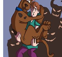 scooby doo and shaggy by captainsugar