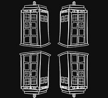 Inverted Mirrored Tardis | Doctor Who Unisex T-Shirt
