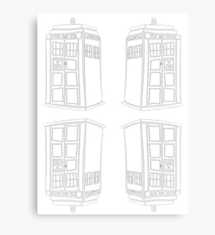 Inverted Mirrored Tardis | Doctor Who Canvas Print