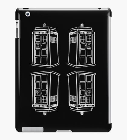 Inverted Mirrored Tardis | Doctor Who iPad Case/Skin