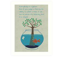 Einstein Quote for Kid's Room Art Print