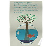 Einstein Quote for Kid's Room Poster