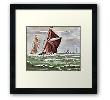 Maybe we could sail away... Framed Print