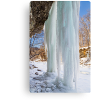 Columns of Ice Canvas Print