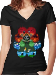 Adventure Pals Women's Fitted V-Neck T-Shirt