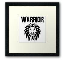 WARRIOR LION Framed Print