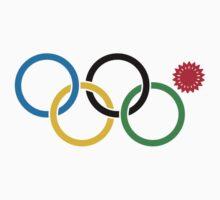 Sochi Olympic Snowflake Rings T-Shirt by Kellan Reck