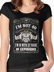 1976 - I'm Not 40 I'm 18 With 22 Years Of Experience Women's Fitted Scoop T-Shirt