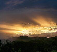 Sunset - my back yard.......! by Roy  Massicks