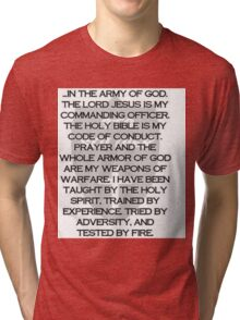 Army of God Tri-blend T-Shirt