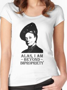 Alas, I am Beyond Impropriety Women's Fitted Scoop T-Shirt