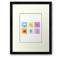 My Little Pony - Mane Six Flat Icons Framed Print