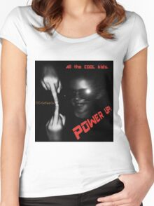 Cool Kids-Power Up  Women's Fitted Scoop T-Shirt