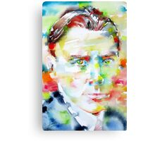 MIKHAIL BULGAKOV - watercolor portrait Canvas Print