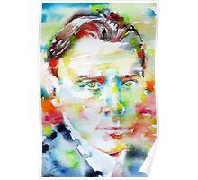 MIKHAIL BULGAKOV - watercolor portrait Poster