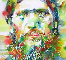 RASPUTIN - watercolor portrait by lautir