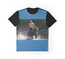 Bear Rider Vladimir Putin Graphic T-Shirt