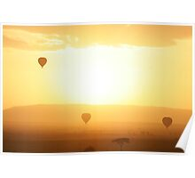 Sunrise over the Masai Plains, Kenya Poster