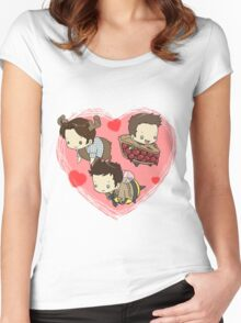 SuperNatural Chibi Women's Fitted Scoop T-Shirt