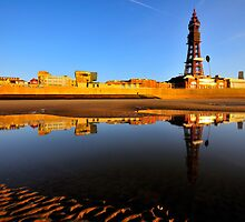 Blackpool At Golden Hour by FyldePhotos