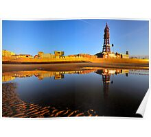Blackpool At Golden Hour Poster