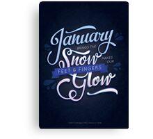 Typography Poem Canvas Print