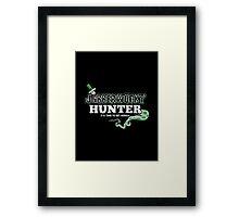 Jabberwocky Hunter Framed Print