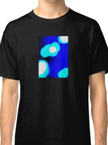 Blue White Abstract Classic T-Shirt