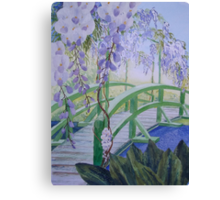 Monets Bridge Canvas Print