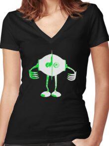Boon: Robot  T-Shirt Women's Fitted V-Neck T-Shirt