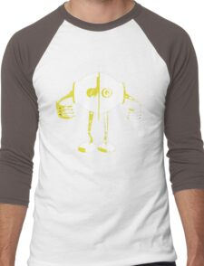 Boon Yellow Robot Men's Baseball ¾ T-Shirt