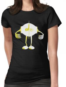 Boon Yellow Robot Womens Fitted T-Shirt