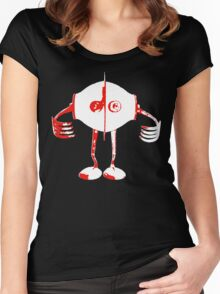 Boon - Red - Robot Women's Fitted Scoop T-Shirt