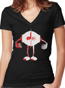 Boon - Red - Robot Women's Fitted V-Neck T-Shirt