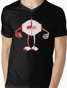 Boon - Red - Robot Mens V-Neck T-Shirt