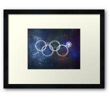 Sochi Olympic Rings Framed Print