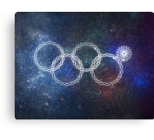 Sochi Olympic Rings Canvas Print