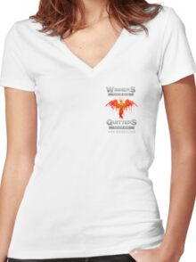 Winners v Quitters Tee Women's Fitted V-Neck T-Shirt