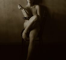 Naked girl with cigarette by orlusha