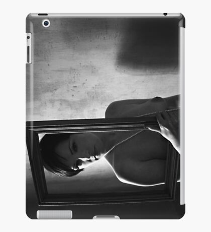 Naked girl in frame iPad Case/Skin