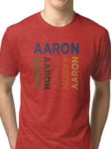 Aaron Cute Colorful Tri-blend T-Shirt
