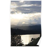 Sunset over Windermere Poster